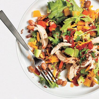 Healthy Taco Salad RecipeMake a batch of quinoa over the weekend for a great protein-packed, wholegrain salad.