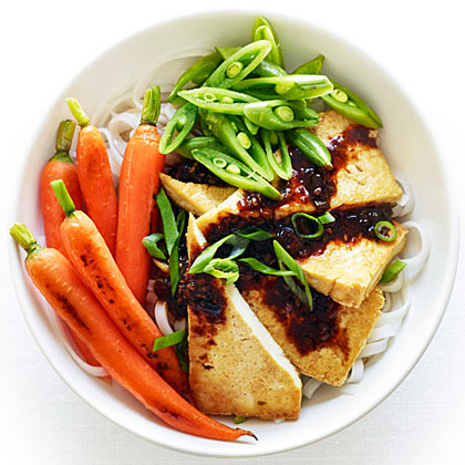 Tofu and Rice Noodles with Black Bean Sauce Recipe