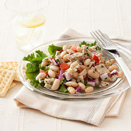 """Tuna and White Bean Salad                            Recipe""""This no-fuss dish also works great as an appetizer on slices of toasted crusty bread."""" -Maureen Sullivan, 28, Brooklyn, N.Y."""
