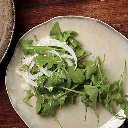 Arugula Salad with Parmesan Vinaigrette