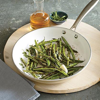 Pan-Charred Green Beans with Tarragon Recipe