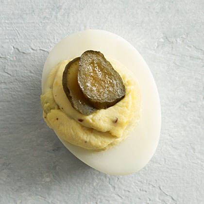 Pickle and Jalapeño Deviled Eggs Recipe