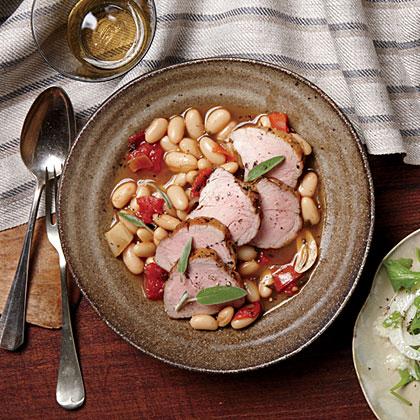 Pork Tenderloin and Cannellini BeansRecipe