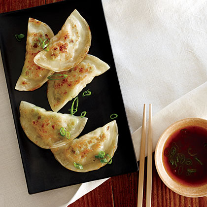 Shrimp and Edamame Dumplings