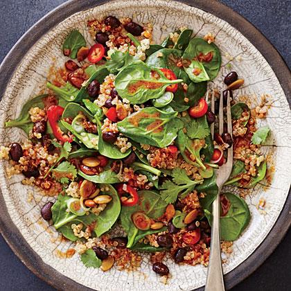 "Spicy Bean and Quinoa Salad with ""Mole"" VinaigretteRecipe"