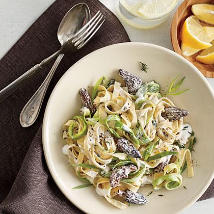 Spring Pasta with Morels