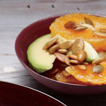 Tangerine and Avocado Salad with Pumpkin Seeds