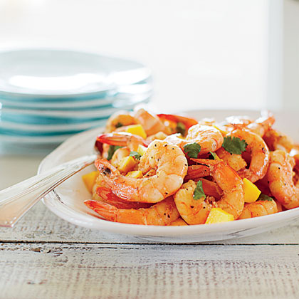 Cumin-spiced Shrimp with Mango and Cilantro
