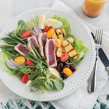 Grilled Tuna Salad Niçoise Recipe