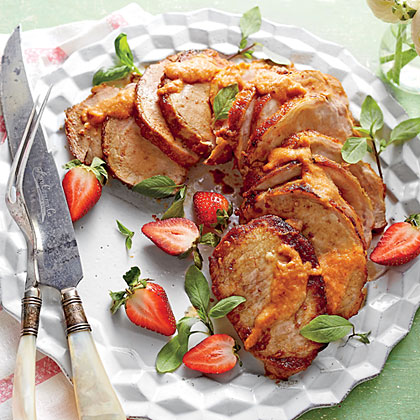 Chipotle-Strawberry Glaze