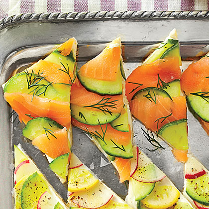 Salmon-Cucumber Tea Sandwiches
