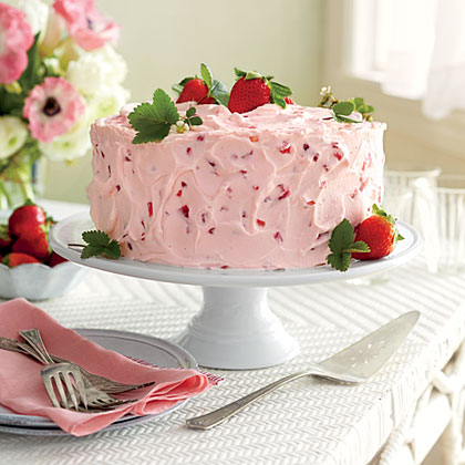 Strawberry-Lemonade Layer Cake RecipeYou can assemble this glorious cake up to two days ahead; store at room temp. Also, you can freeze cooled layers up to a month in plastic wrap and aluminum foil.