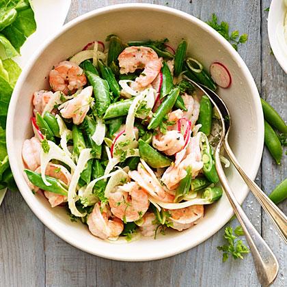 Shrimp, Snap Pea, and Chervil Salad