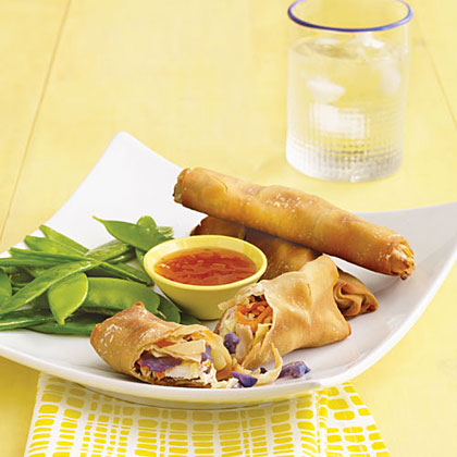Baked Chicken Spring Rolls Recipe