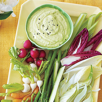 Curried Avocado-and-Yogurt Dip with Crudités