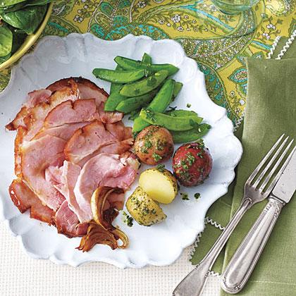 Peach Jam-Glazed Ham