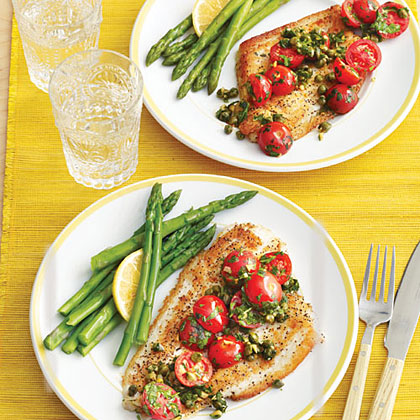 Sautéed Fish Fillets with Tomatoes and Capers Recipe