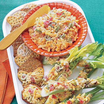 Spicy Cheddar-Olive Spread Recipe