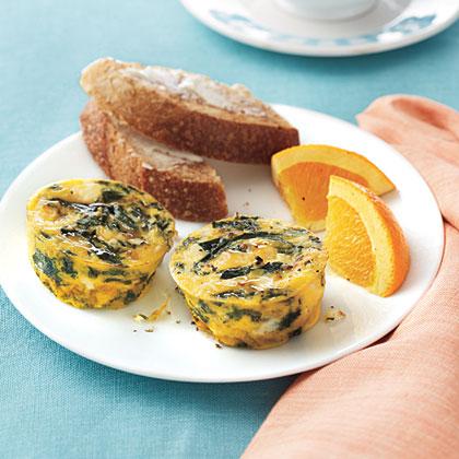 Spinach-Feta Frittatas