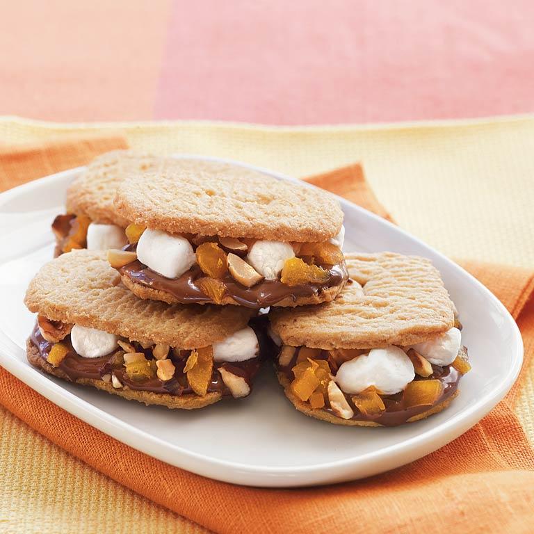 Hazelnut-Sugar Cookie S'mores