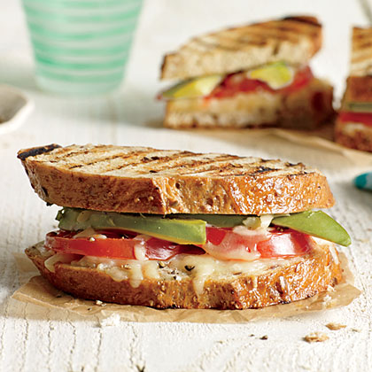 Avocado and Tomato Grilled Cheese Sandwiches Recipe