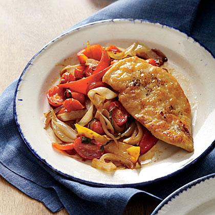 Chicken Scaloppine with Peperonata