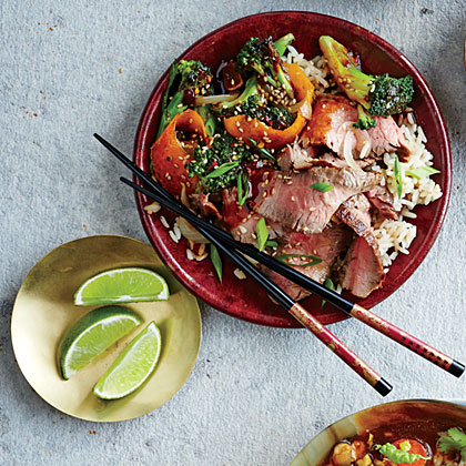 Five-Spice Orange Beef and Broccoli Recipe