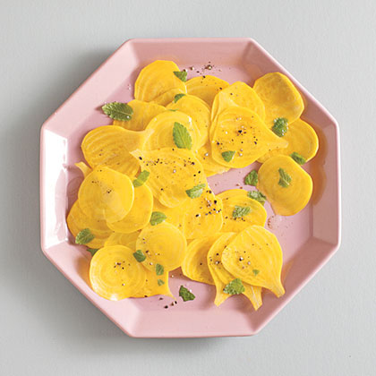 Shaved Yellow Beets and Mint Recipe