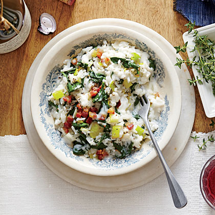 Spinach and Pancetta Fake-Out Risotto