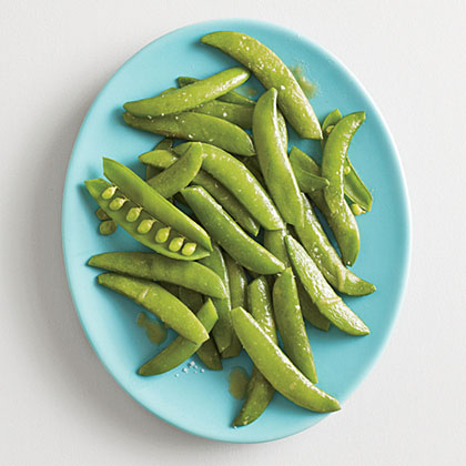 Steamed Snap Peas with Wasabi ButterRecipe