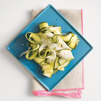 Zucchini Ribbons with Lemon and Pecorino