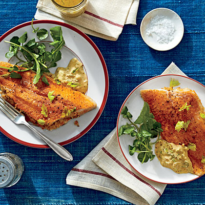 Crab-Stuffed Catfish Fillets with Cajun RémouladeRecipe