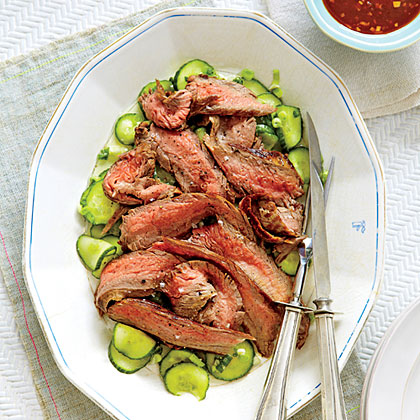 Flank Steak and Cucumber Salad
