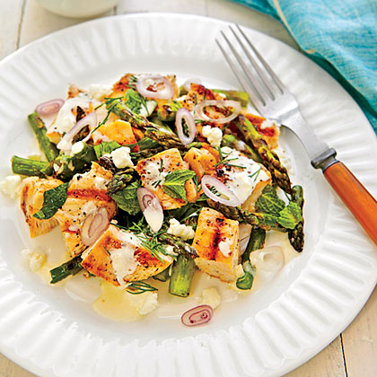 Grilled Chicken-Asparagus Salad