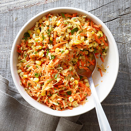 Carrot, Apple, and Corn Slaw Recipe