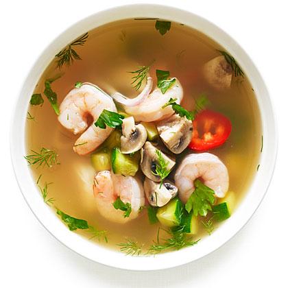 Hot and Sour Shrimp Soup Recipe