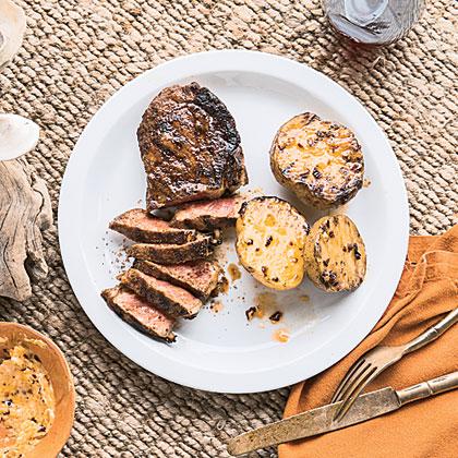 Seasoned Strip Steaks