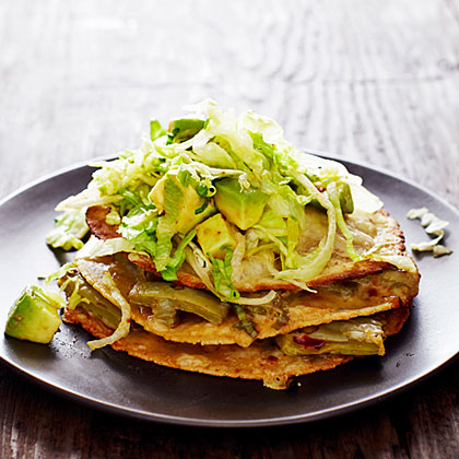 Stacked Nopales Quesadillas