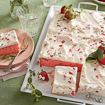 Cake of the Week: Strawberries-and-Cream Sheet Cake