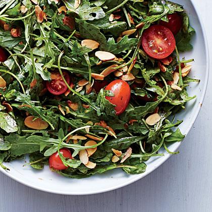 Arugula, Tomato, and Almond Salad