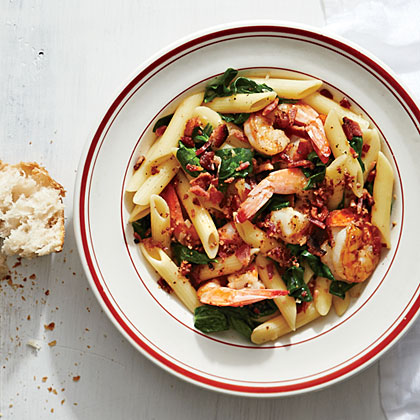 Bacon and Shrimp Pasta Toss Recipe | MyRecipes