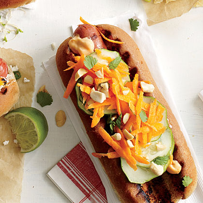 Banh Mi on a Bun Hot Dog Topper Recipe | MyRecipes
