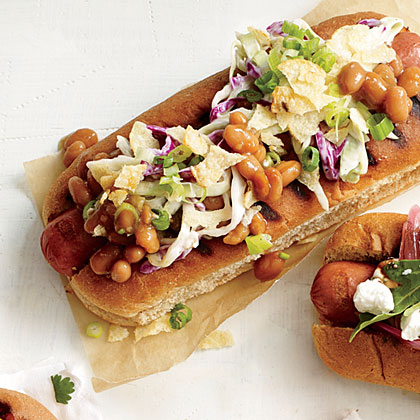 Cookout Cruncher Dog Hot Dog Topper RecipeTurn the average frank into a feast by loading up on fresh condiments like this 4-ingredient crunchy slaw and bean topper.
