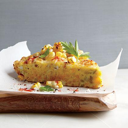 Corn Frittata with Pecorino-Romano Cheese