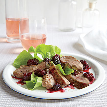 Duck Breasts with Blackberry-Port Sauce Recipe