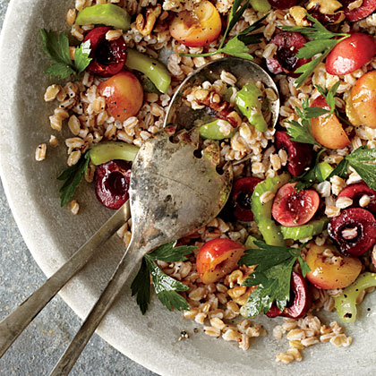 Farro, Cherry, and Walnut Salad