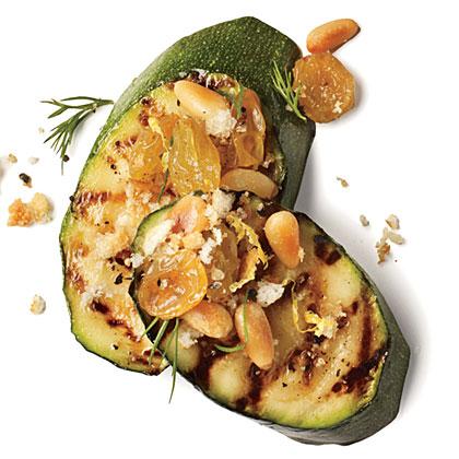Pine Nut and Raisin Zucchini