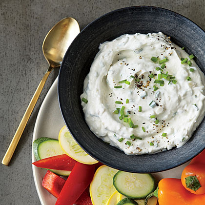 Roasted Garlic and Chive Dip
