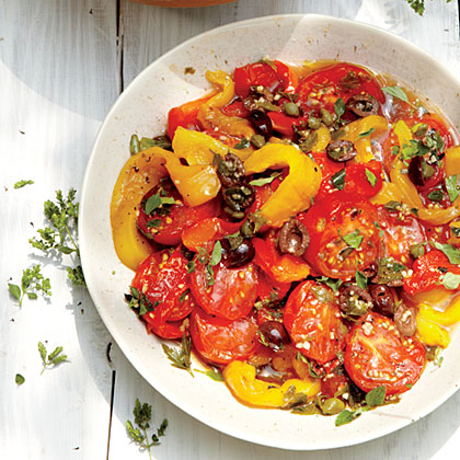 Roasted Peppers and Tomatoes with Herbs and CapersRecipe