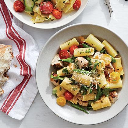 Summer Vegetable Rigatoni with ChickenRecipe